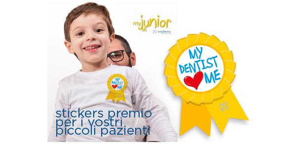sticker premio myjunior sistema di matrici sezionali pediatrico
