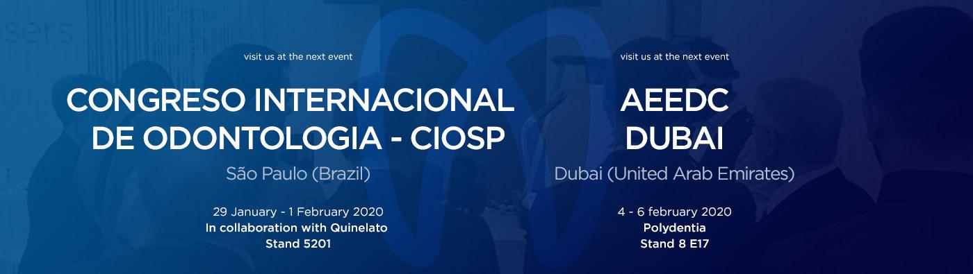 dental fairs and events CIOSP Brazil / AEEDC Dubai 2020