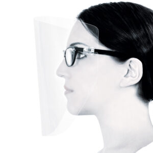 Vista-Tec laStoria protective face-shield for spectacles and loupes wearers