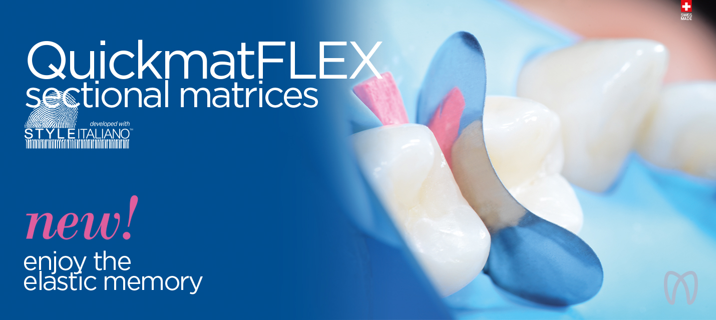 Polydentia QuickmatFlex ultra-thin titanium sectional matrices developed with StyleItaliano